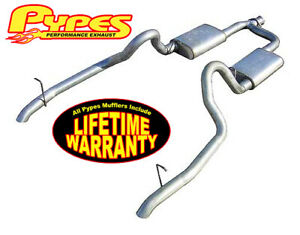 1998 2004 Mustang V6 3 8 Pypes 2 5 Stainless Cat Back Dual Exhaust System Kit
