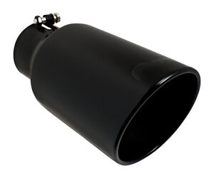 Ford Powerstroke Super Duty Pypes Diesel Black 4 In 6 Out 12 Long Exhaust Tip