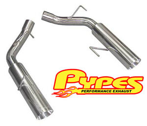 2005 2010 Mustang Gt Pypes Axle Back Muffler Delete Pipes Exhaust Pype Bomb