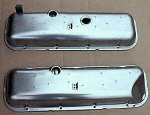 Big Block Chevy Corvette Steel Valve Covers Bb 65 66 New Pair