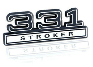 Ford Mustang Black Chrome Plated 331 Stroker 3d Stick On Emblem
