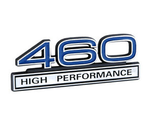 Ford Mustang Blue Chrome 460 High Performance 3d Stick On Embossed Emblem
