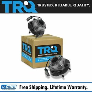 Trq Front Wheel Hub Bearing Assembly New Pair For Equinox Torrent Vue W Abs