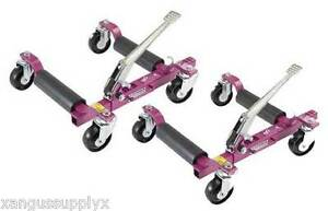 Pair Gojak Gojack 5211 Rolling Car Vehicle Dollies 5 000 Lb Auto Dolly Set Of 2