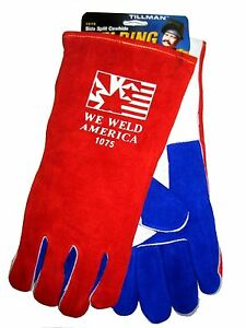 Tillman We Weld America 1075 Welding Safety Gloves Stick Large 14 In New