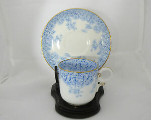 Demitasse Cup Saucer Royal Worcester Forget Me Not Circa 1889