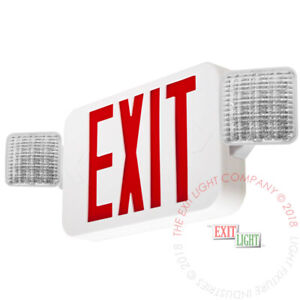 Red All Led Exit Sign Emergency Light Standard Combo Ul Combor2