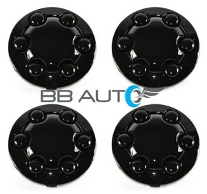 New Black 15 Alloy Wheel Hub Center Caps Set For 1991 1996 Dodge Dakota Truck