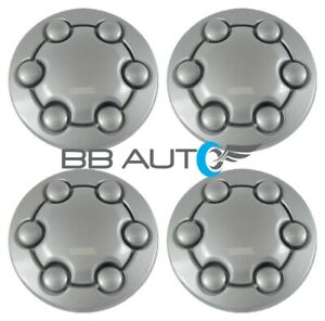 1991 1996 Dodge Dakota Pickup Truck Silver Wheel Hub Center Caps Set New