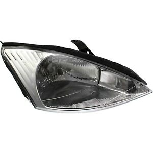 Headlight For 2000 2001 2002 Ford Focus Right Clear Lens With Bulb
