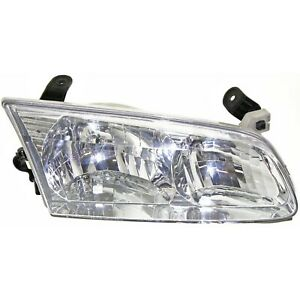 Headlight For 2000 2001 Toyota Camry Sedan Right Clear Lens With Bulb