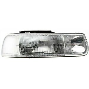Headlight For 99 2002 Chevrolet Silverado 1500 Passenger Side W Bulb