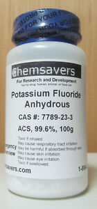 Potassium Fluoride Anhydrous Acs 99 6 Certified 100g
