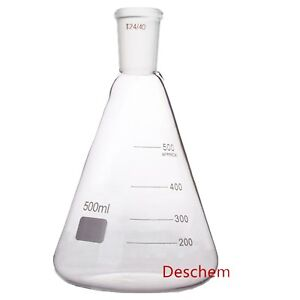 500ml 24 40 glass Erlenmeyer Flask ground Joint Conical Bottle lab Glassware