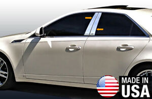Tyger For 08 2013 Cadillac Cts 4pc Stainless Steel Chrome Pillar Post Trim