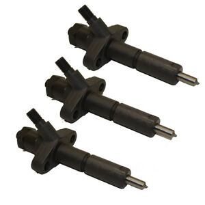 D9nn9f593da Set Of Three 3 Fuel Injectors For Ford New Holland Diesel Tractor