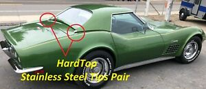 68 69 70 71 72 73 74 75 Corvette Hardtop Tips Pair New Reproduction