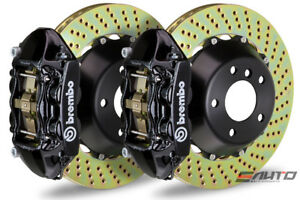 Brembo Front Gt Bbk Big Brake Kit 4pot Black 365x29 Drill Disc Audi S3 8p 06 12