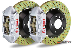 Brembo Front Gt Bbk Big Brake Kit 4pot Silver 365x29 Drill Disc Audi S3 8p 06 12