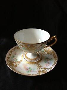 European Old Paris French Footed Cup Saucer