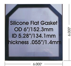 50 Pcs High Temp 1 4 Mm 0 055 Flat Silicone Gaskets For 6 x6 Hho Dry Cell