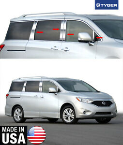 Tyger For 2011 2015 Nissan Quest 8pc W Mirror Piece Stainless Steel Pillar Post