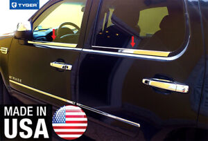 Tyger For 07 14 Chevrolet Tahoe 4pc Stainless Steel Chrome Window Sill Overlay