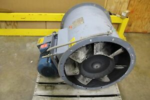 Hartzell 54 26 vn3 14 400 Cfm Vaneaxial Axial Tube Duct Blower 10hp 3ph 230 460v
