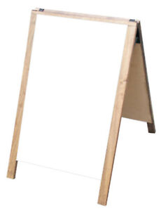 Dry Erase Double Sided A frame Sidewalk Pavement Restaurant Sign Menu Board Fold