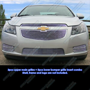 Fits 2011 2014 Chevy Cruze Billet Grille Grill Insert Combo