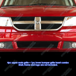 Custom Fits 2009 2010 Dodge Journey R T Se Sxt Black Billet Grill Combo
