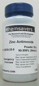 Zinc Antimonide Powder 200 Mesh 99 999 metals Basis 1g