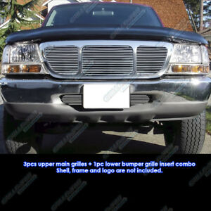 Custom Fits 98 2000 Ford Ranger 4wd Billet Grill Combo