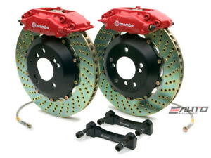 Brembo Rear Gt Brake 4piston C Caliper Red 345x28 Drill Disc Bmw E52 Z8 00 03