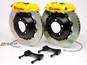 Brembo Rear Gt Brake Bbk 4piston P Caliper Yellow 345x28 Slot Bmw E52 Z8 00 03