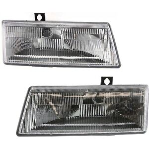 Headlight Set For 91 95 Dodge Caravan Plymouth Voyager Left Right W Bulb