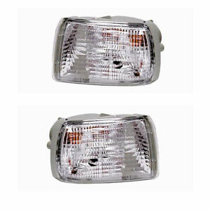 Pair Turn Signal Lights Left Right Sides Fits 03 05 Toyota 4runner W O Drl