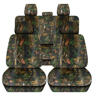Customized Seat Covers For A 1999 Jeep Cherokee Xj Green Tree Camouflage