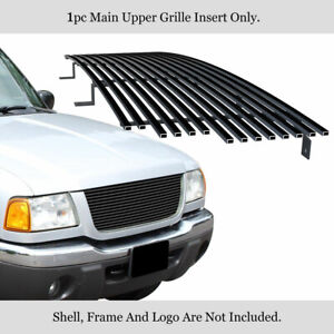 Fits 2001 2003 Ford Ranger Edge xlt 4wd Black Billet Grille Insert Open Top Only