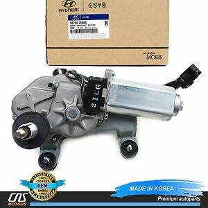 Genuine Windshield Wiper Motor Rear For 01 06 Hyundai Santa Fe Oem 9870026000