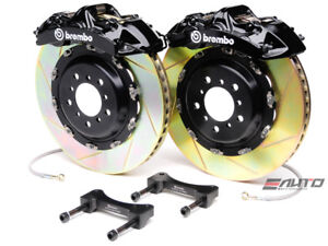Brembo Front Gt Brake Bbk 6piston Black 380x32 Slot Disc Rotor Ford Gt 04 06