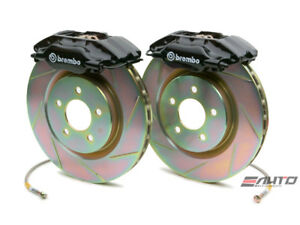 Brembo Front Gt Big Brake Bbk 4piston Black 330x28 Slot Disc Rotor Mustang 94 04