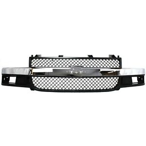 Grille Assembly For 2003 2017 Chevy Express 3500 W Emblem Provision