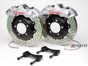 Brembo Front Gt Brake Bbk 6piston Caliper Silver 355x32 Drill Disc Mustang 94 04