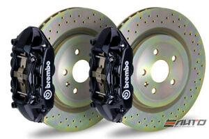 Brembo Front Gt Brake Bbk 4pot M Caliper Black 355x32 Drill Disc Mustang 05 13
