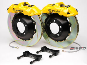 Brembo Front Gt Brake Bbk 6piston Yellow 355x32 2p Slot Disc Rotor Mustang 05 13