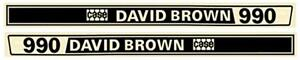 New David Brown 990 Tractor Hood Decal Set
