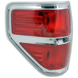 Tail Light For 2009 2013 Ford F 150 Platinum Lh Red Lens Capa Certified