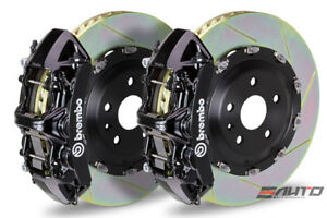 Brembo Front Gt Brake 6piston N Caliper Black 380x34 Slot Disc Wrangle Jk 07 13