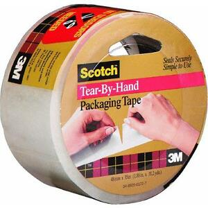 24 Pk 3m 1 88 X 38 2 Yd Scotch Clear Hand Tearable Packaging Tape 3842